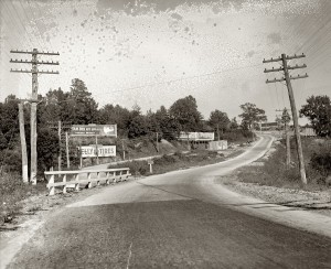 Route 1 in the 1920s (Courtesy Library of Congress)