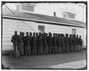 African American Regiment at Fort Lincoln in Civil War